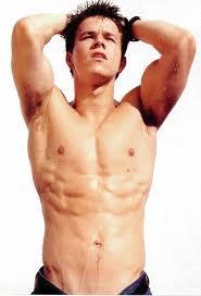 Mark shirtless